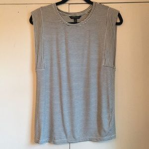 Banana Republic Black White Striped Shirt XS EUC